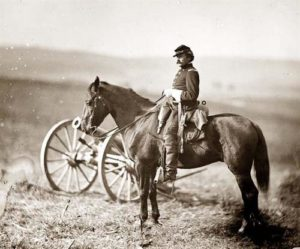 US Cavalry Soldier on Horse
